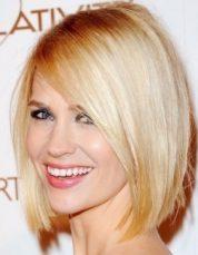 Gaya Rambut Untuk Wajah Bulat - Blonde Bob