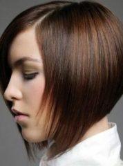Gaya Rambut Untuk Wajah Bulat - Bob Nungging