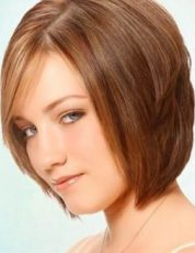 Gaya Rambut Untuk Wajah Bulat - Pendek leyer dengan poni panjang