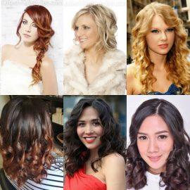 Gaya Rambut Panjang Wanita - Classic Curl