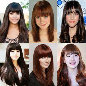 24 Model Rambut Panjang Berponi Yang Bagus dan Paling ...