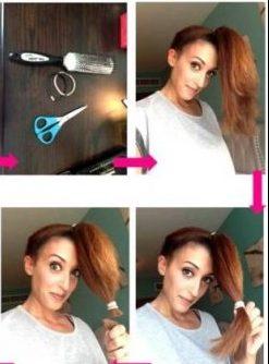 Cara Memotong Rambut Sendiri Model Layer - Layer Bentuk V