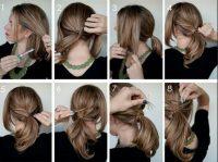 cara mengikat rambut dengan dililit