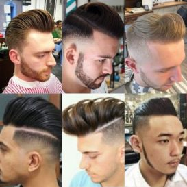 Model Undercut Pompadour