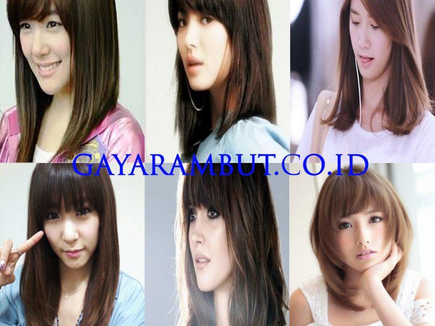 89 Model Rambut Wanita Korea Untuk Wajah Bulat Paling Cantik dan Anggun