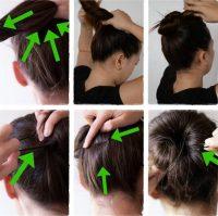 cara mengikat rambut cepol