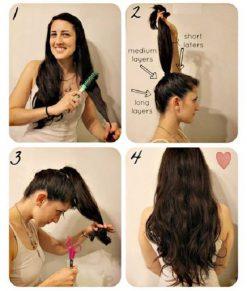 Cara Memotong Rambut Sendiri Model Layer - Layer Panjang Bergelombang