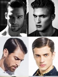 model rambut Sliked Back Pompadour