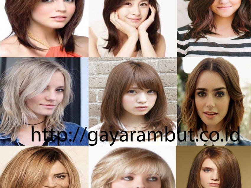63 Model Rambut Wanita Sebahu Ala Korea dan Berponi Lurus