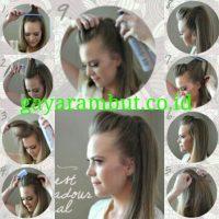 Cara Menata Rambut Panjang - Membuat Pretty Pompadour