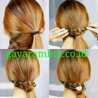 Cara Menata Rambut Panjang - Membuat Braid Wapped Ponnytail