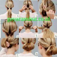 Cara Menata Rambut Panjang - Membuat Low Rolled Bun