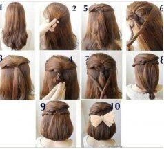 Cara Mengikat Rambut Panjang model bob