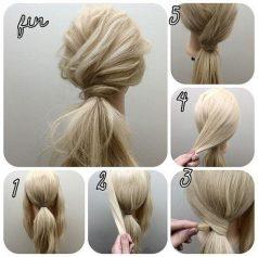 Cara Mengikat Rambut Panjang model ikat silang