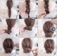 Cara Mengikat Rambut Panjang kepang gulung