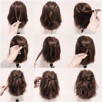 cara menata rambut pendek dengan Model Rambut Pendek Ikat Tengah Messy