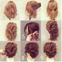 cara menata rambut pendek - Model Rambut Pendek Sanggul Ke Dalam