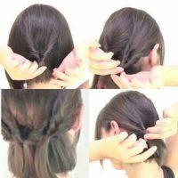 cara menata rambut pendek dengan Model Rambut Pendek Kepang Kotak