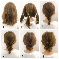 cara menata rambut pendek dengan Model Rambut Pendek Sanggul Kepang Messy