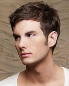 gaya rambut wajah lonjong pria - straight