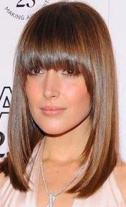 Gaya Rambut Untuk Wajah Bulat - Fabulously Fringed Panjang