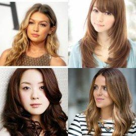 80 Gaya Rambut Panjang Wanita Untuk Wajah Bulat Yang Disukai Pria