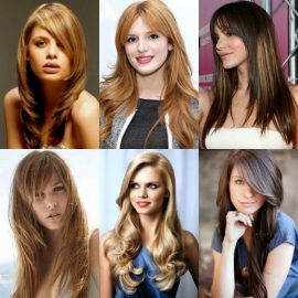 80 Gaya Rambut Panjang Wanita Untuk Wajah Bulat Yang Disukai Pria ... f281ea5616