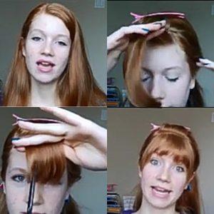 Cara Memotong Rambut Sendiri - Oval Poni