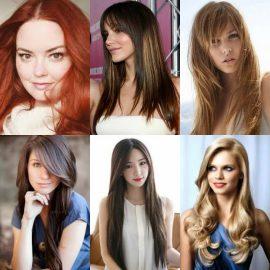 80 Gaya Rambut Panjang Wanita Untuk Wajah Bulat Yang Disukai Pria ... 44aff60c1b