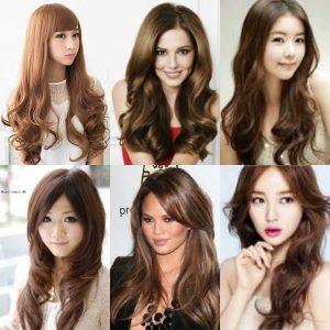 Model Rambut Layer Panjang Untuk Wajah - Layer Belah Tengah Belakang