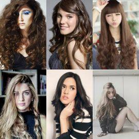 Gaya Rambut Panjang Wanita - Messy Keriting Panjang