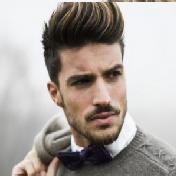 Model Rambut Pria Untuk Wajah Bulat - Front Puff
