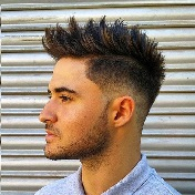 Model Rambut Pria Untuk Wajah Bulat - Spike