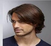 Model Rambut Pria Untuk Wajah Bulat - straight middle