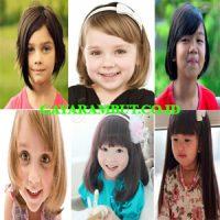 model rambut anak perempuan Bob Poni Samping