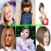 model rambut anak perempuan Bob With Bangs