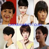 model rambut wanita korea - Boyish Pixie