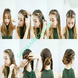 Cara mengepang rambut pendek - Dutch Braids