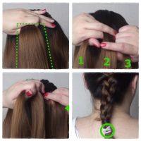 cara kepang rambut kepang prancis