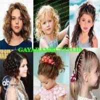 model rambut anak perempuan Cut hair color
