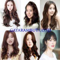 Model Rambut Wanita Korea - Keriting