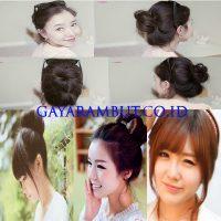 Model Rambut Wanita Korea - Korea bun
