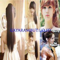 Model Rambut Wanita Korea - kuncir kuda