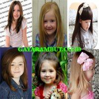 model rambut anak perempuan Layer Bingkai Wajah
