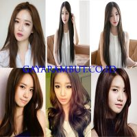 Model Rambut Wanita Korea - lurus tanpa poni