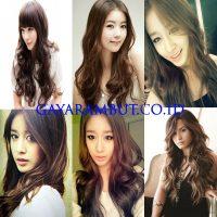 Model Rambut Wanita Korea - panjang bergelombang
