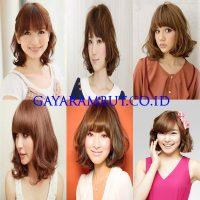 Model Rambut Wanita Korea - pendek dan bergelombang