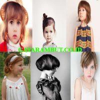 model rambut anak perempuan Rambut Pendek Berponi