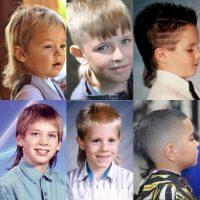 model rambut anak laki-laki - mullet