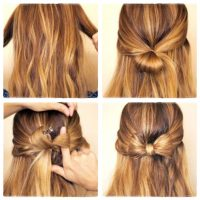 cara mengikat rambut pita